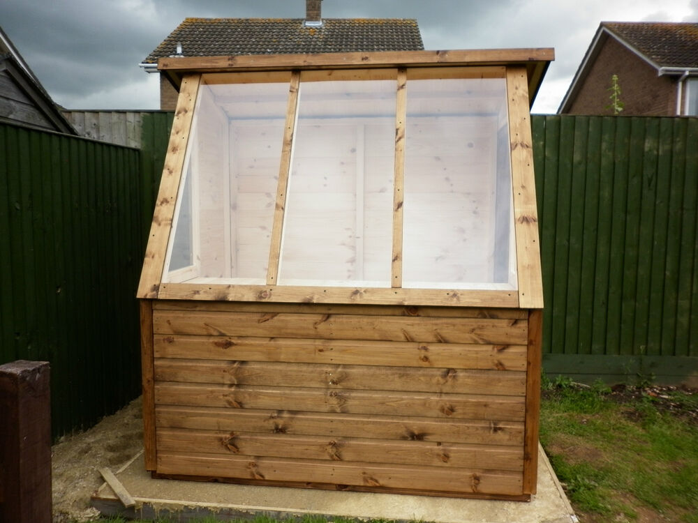 6x4 good quality t g wooden greenhouse potting shed ebay for Buy potting shed