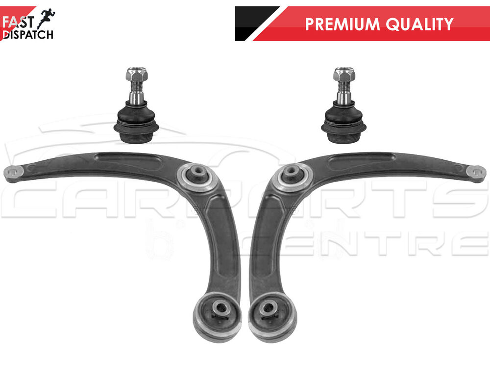 for peugeot 307 sw hdi front lower suspension wishbone arm ball joint pair ebay. Black Bedroom Furniture Sets. Home Design Ideas