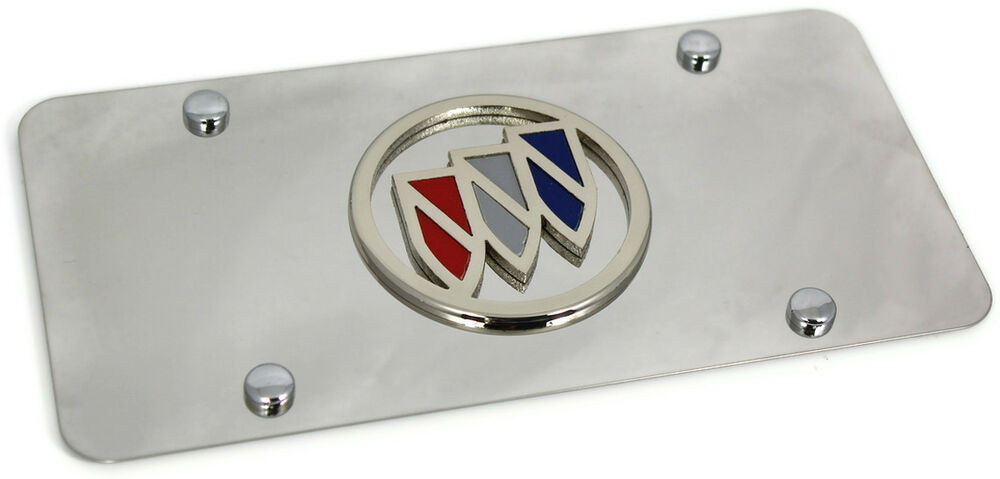 Mirror Finish Buick Front License Plate Frame Stainless