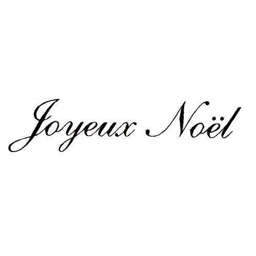 joyeux noel french merry christmas unmounted rubber stamp. Black Bedroom Furniture Sets. Home Design Ideas