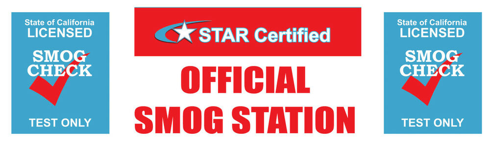 3ftx10ft Star Certified Smog Check Test ly Vinyl Banner