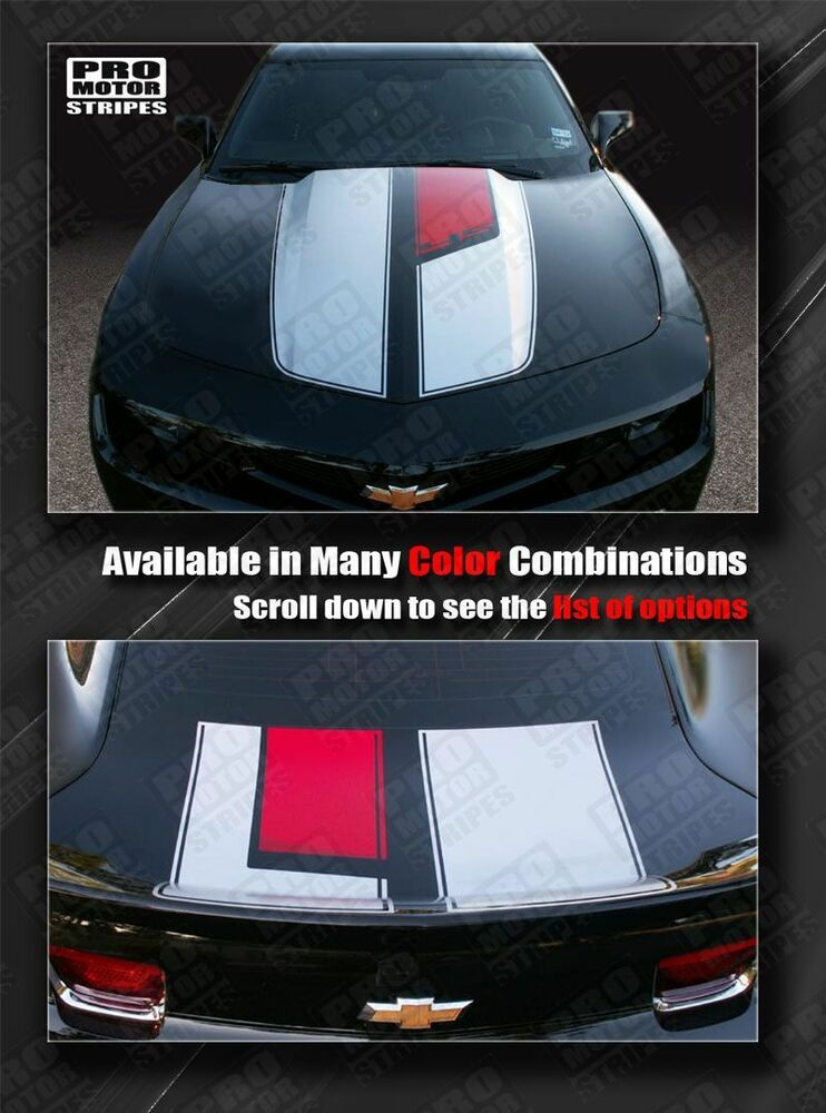 Chevrolet Camaro 45th Anniversary Style Stripes Hood Trunk