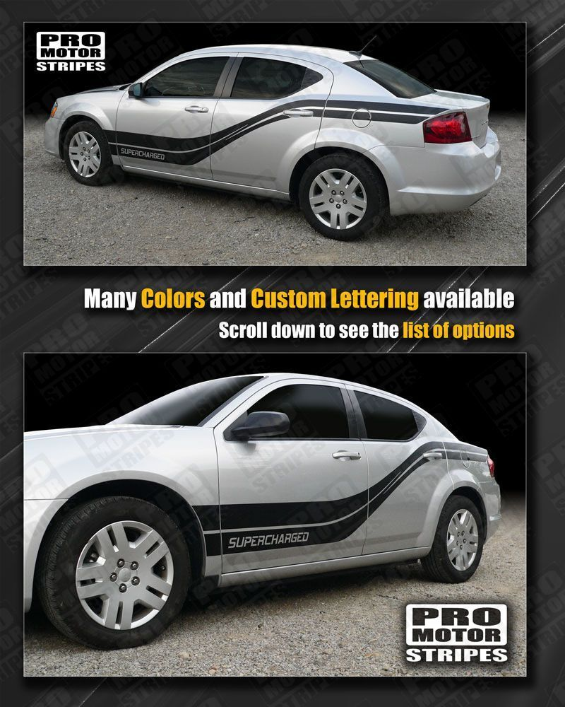 Dodge Avenger Rocker To Rear Quarter Side Stripes 2008