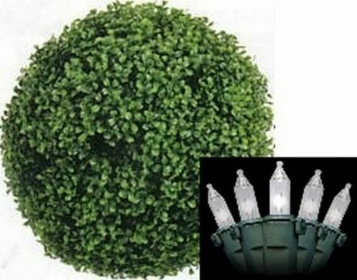 """Artificial 16"""" Boxwood Ball UV Topiary In Outdoor Holiday"""