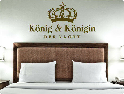 wandtattoo k nig und k nigin der nacht schlafzimmer krone. Black Bedroom Furniture Sets. Home Design Ideas