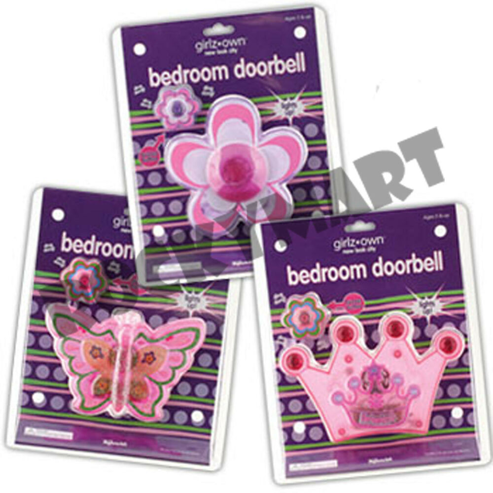 Girls Own Bedroom Doorbell 3 Designs   Butterfly  Daisy  Princess Girlz  RM1343   eBay. Girls Own Bedroom Doorbell 3 Designs   Butterfly  Daisy  Princess