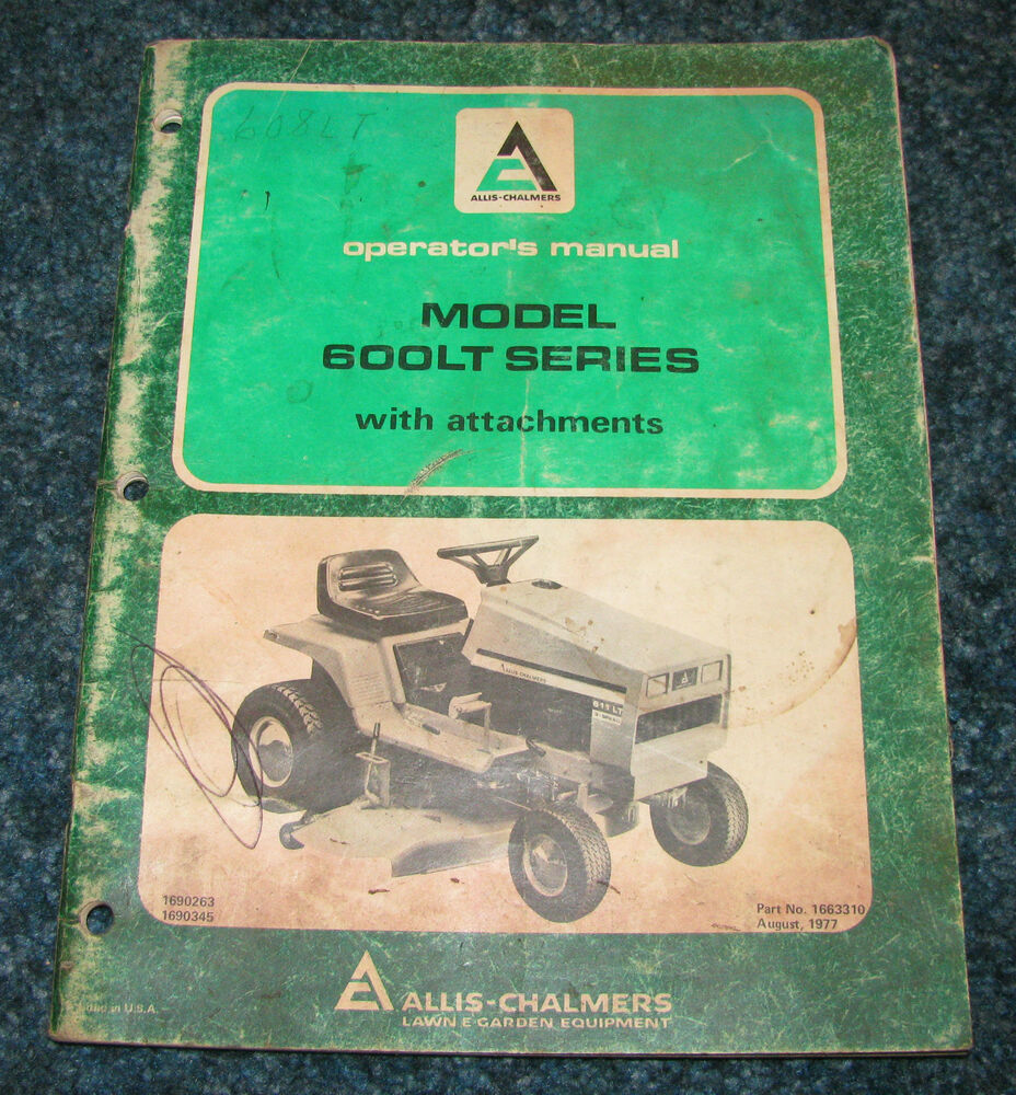 allis chalmers 600lt lawn garden tractor operators manual Service Manuals User Manual PDF