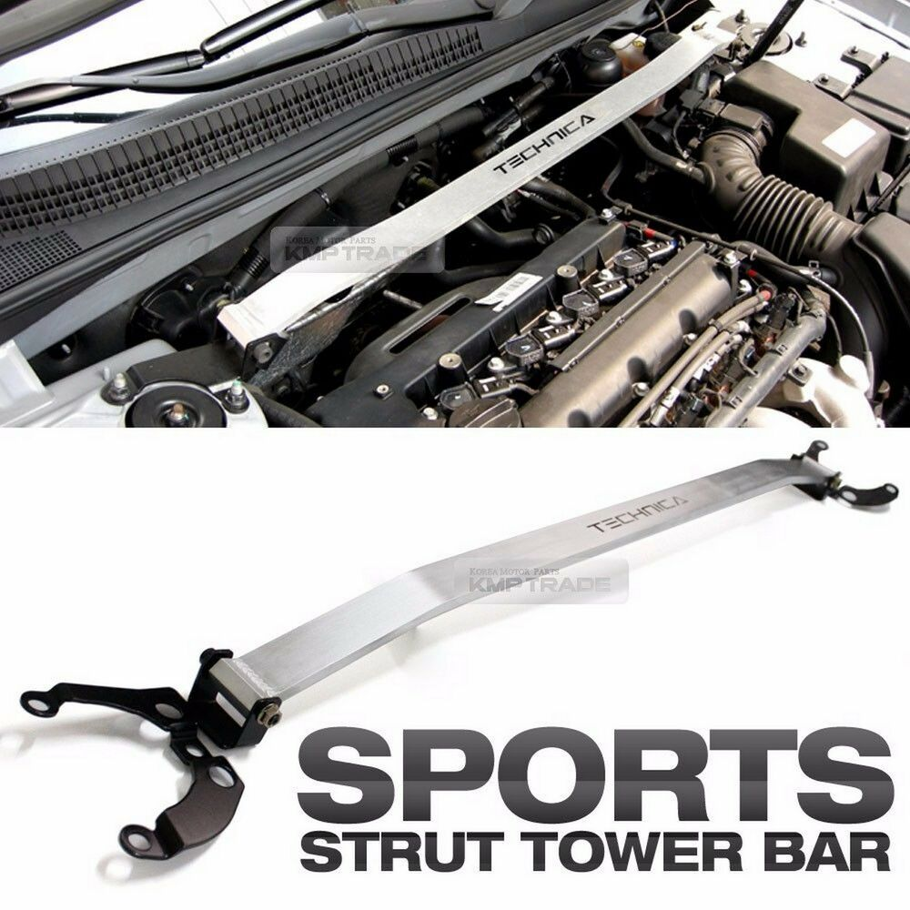 Silver Aluminum Strut Tower Brace Bar Upper For Kia 2010 2012 Forte Cerato Koup Ebay