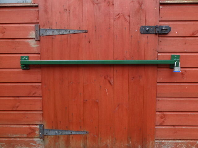 Shed Door Security Bar Hinged 1500mm Long Ebay
