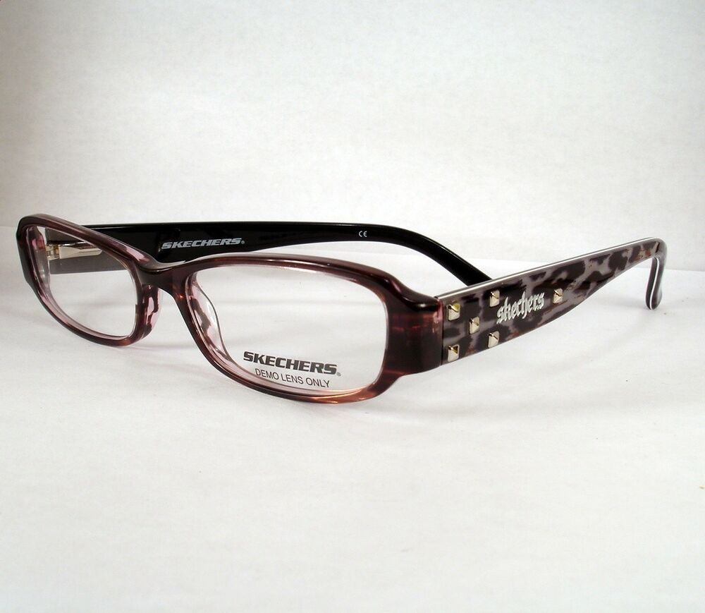 SKECHERS 2011 brown WOMEN Eyeglass Eyewear Frames Glasses ...