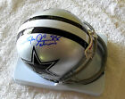 MICHAEL IRVIN SIGNED COWBOYS MINI HELMET PHOTO PROOF COA PRIVATE SIGNING