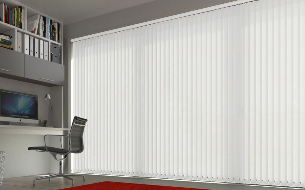 New Vertical Blind S Slats Washable Fire Retardant 18 Colours Made To Measure Ebay