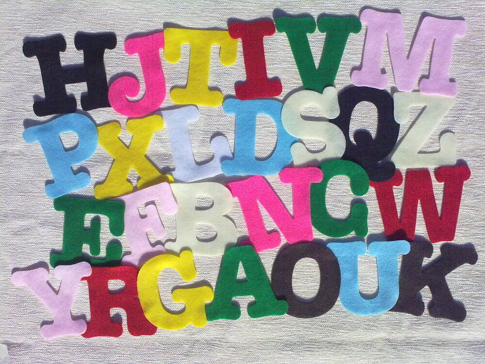 3 large die cut capital felt alphabet letters cut to order for Large letter die cuts