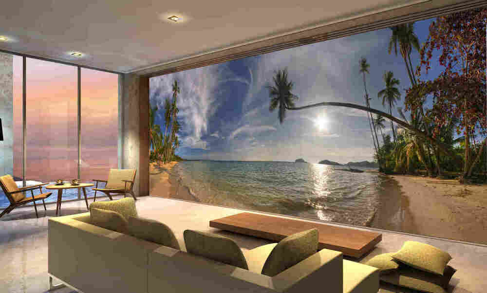 Koh mak beach in thailand wall mural 24 39 wide by 8 39 high ebay for 3d wallpaper for living room malaysia
