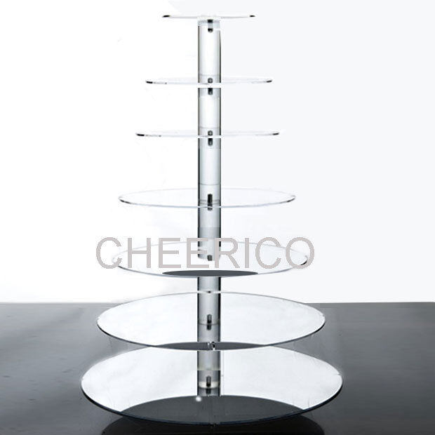 tiered cake stand 7 tier maypole mirrored effects cupcake stand cup cake 7993
