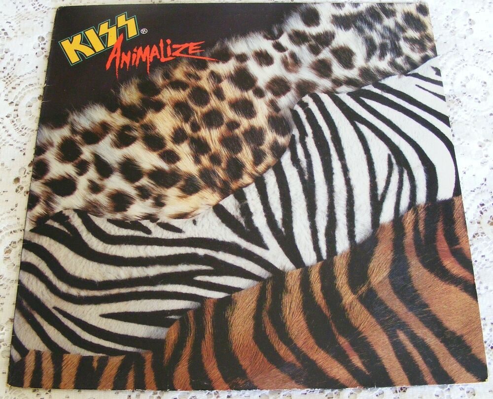 Kiss Animalize Original 1984 Vinyl Lp With Picture Sleeve