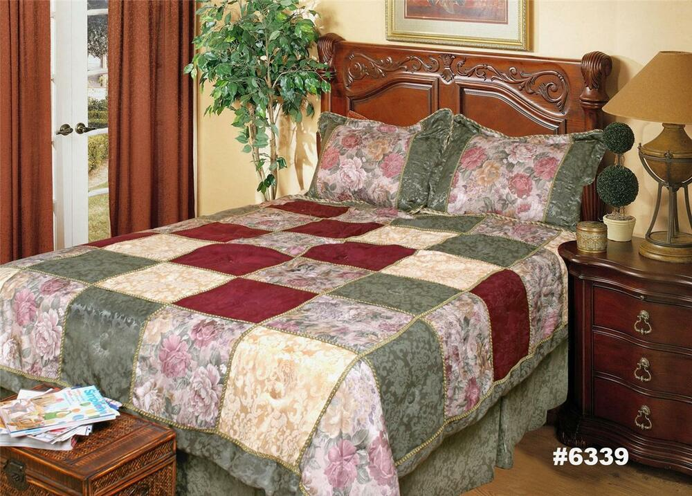 Holiday Christmas Jacquard Patch Patchwork Comforter Set