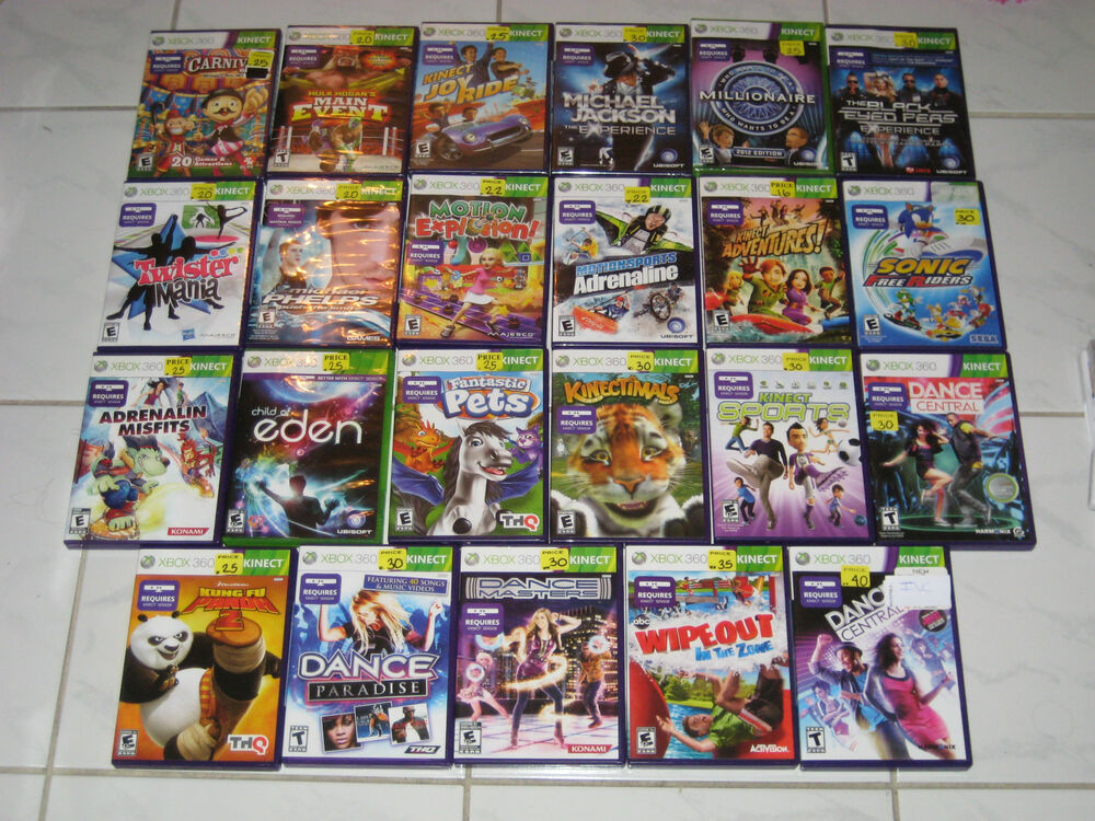Xbox 360 Games List : Xbox kinnect games you pick from list ebay