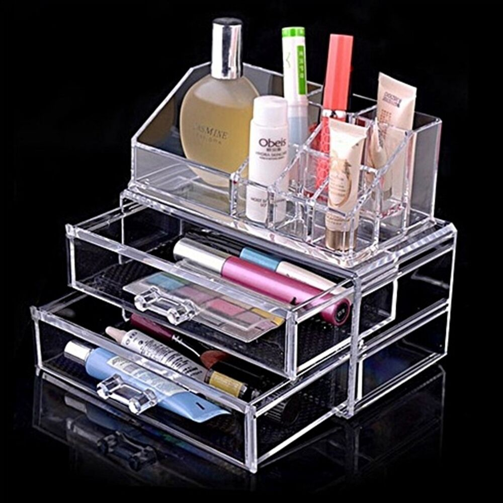 Makeup Organizer Cosmetic Acrylic Clear Case Display Box
