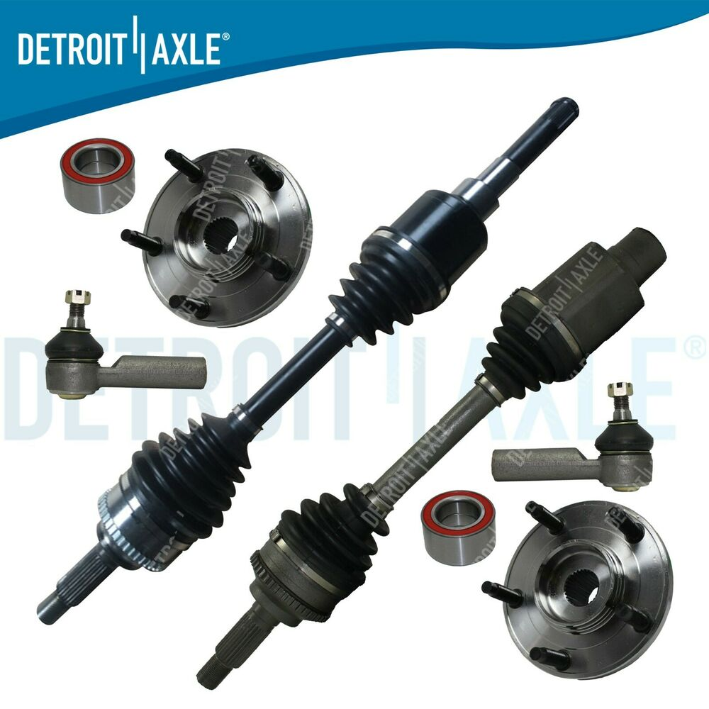 front cv axle drive shaft 2 outer tie rods 2 hub bearings at non hybrid ebay. Black Bedroom Furniture Sets. Home Design Ideas