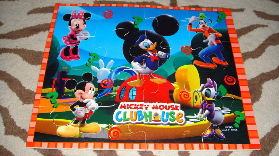 Disney Mickey Mouse Clubhouse Large Foam Puzzle Ebay