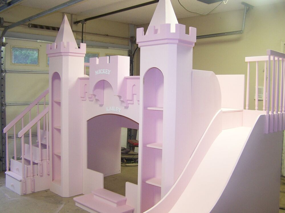 "NEW CUSTOM PRINCESS MICKEY&KAILEY'S CASTLE BUNK BED ""FREE ..."