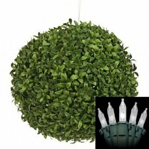 14 Artificial Boxwood Ball Topiary In Outdoor Plant Christmas Lights Tr