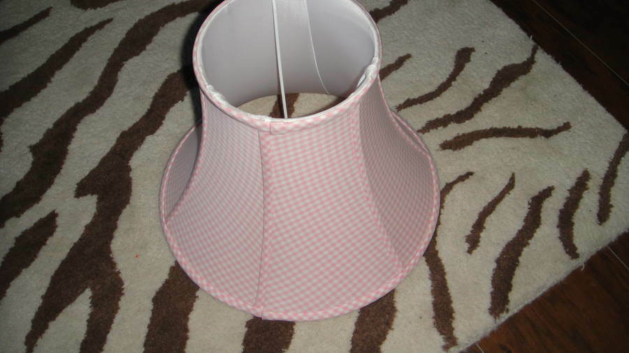 Pottery Barn Kids Pink White Gingham Lamp Shade Two Avail
