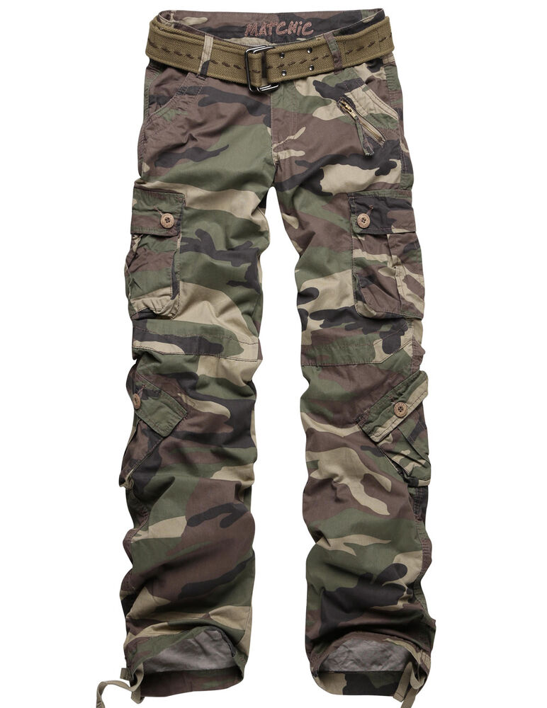 Innovative Fashion Womens Sexy Camo Camouflage Stretch Trousers Army Green Pants