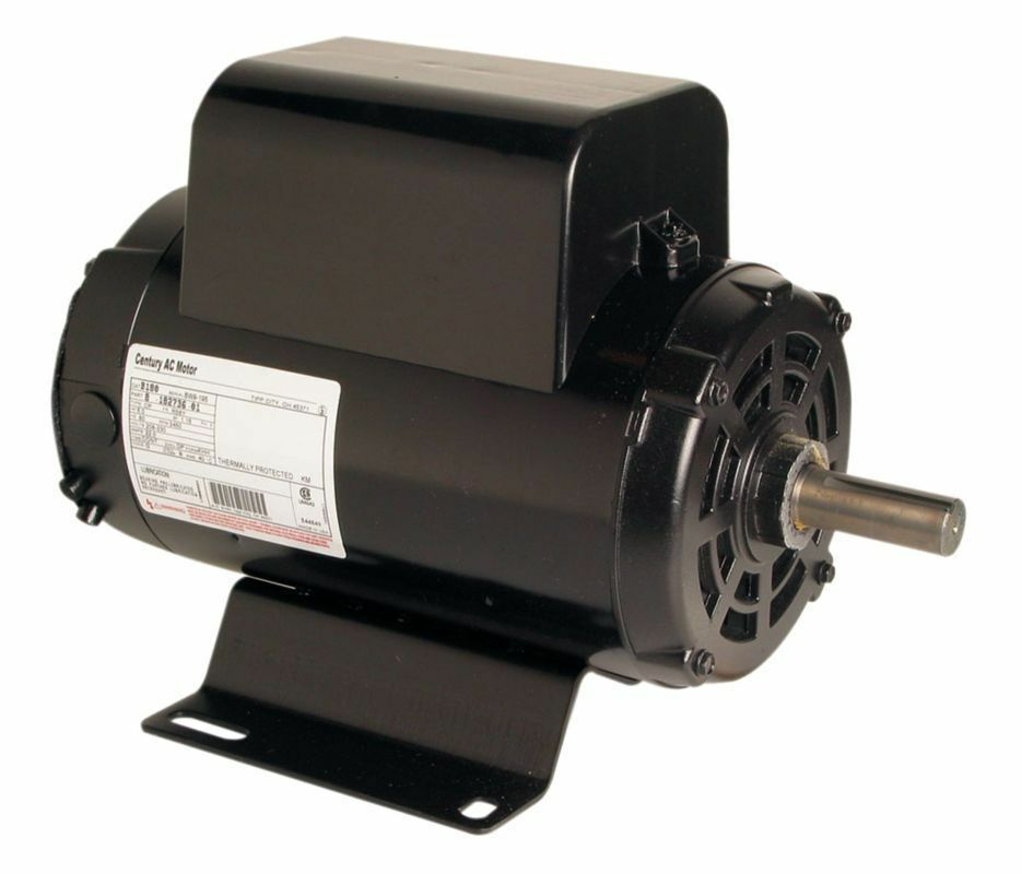 century electric motor 5hp 3450 rpm air compressor electric motor 208 230 volts ~new century
