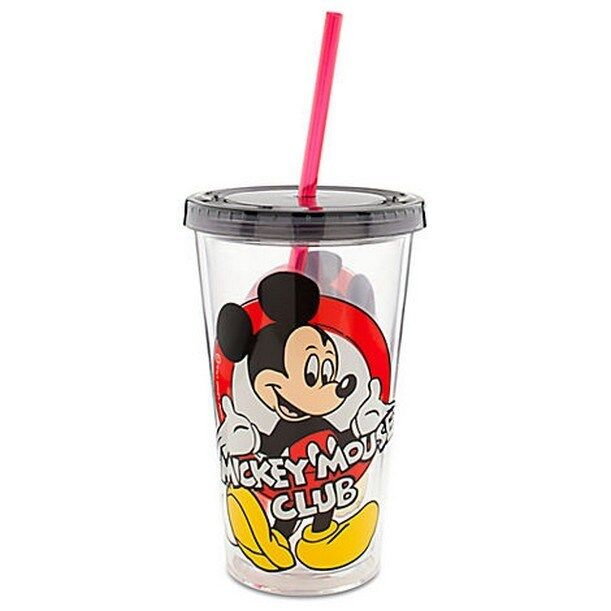 Classic Mickey Mouse Club Tumbler With Straw 16 Oz