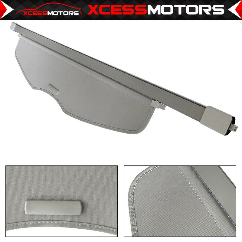 07-13 Acura MDX OE Rear Trunk Roll Cargo Cover Gray Grey