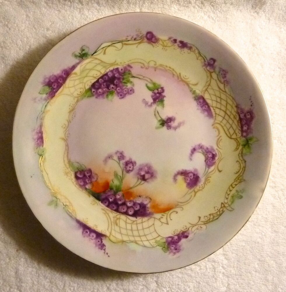 Vintage D & C Delinieres Limoges FRANCE Hand Painted Plate