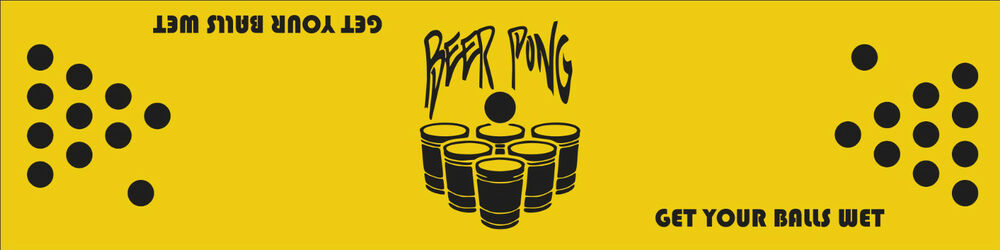 CUSTOM Personalized BEER Pong PARTY Table Decal STICKER Kit Games - Custom vinyl decals for beer pong tables