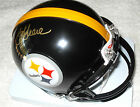 JOE GREEN SIGNED STEELERS MINI HELMET PHOTO PROOF COA PRIVATE SIGNING