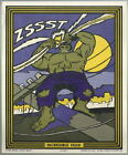 INCREDIBLE HULK MARVEL SUPER HEROES PAINT BY NUMBER POSTER Marvelmania RARE 1966