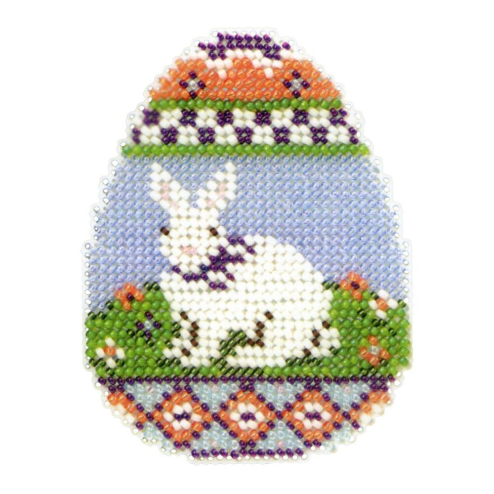 bunny egg beaded easter cross stitch kit mill hill 2013