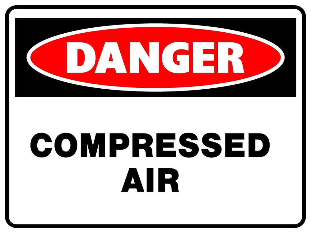 Danger compressed air metal sign 300 x 225mm safety sign ebay sciox Gallery