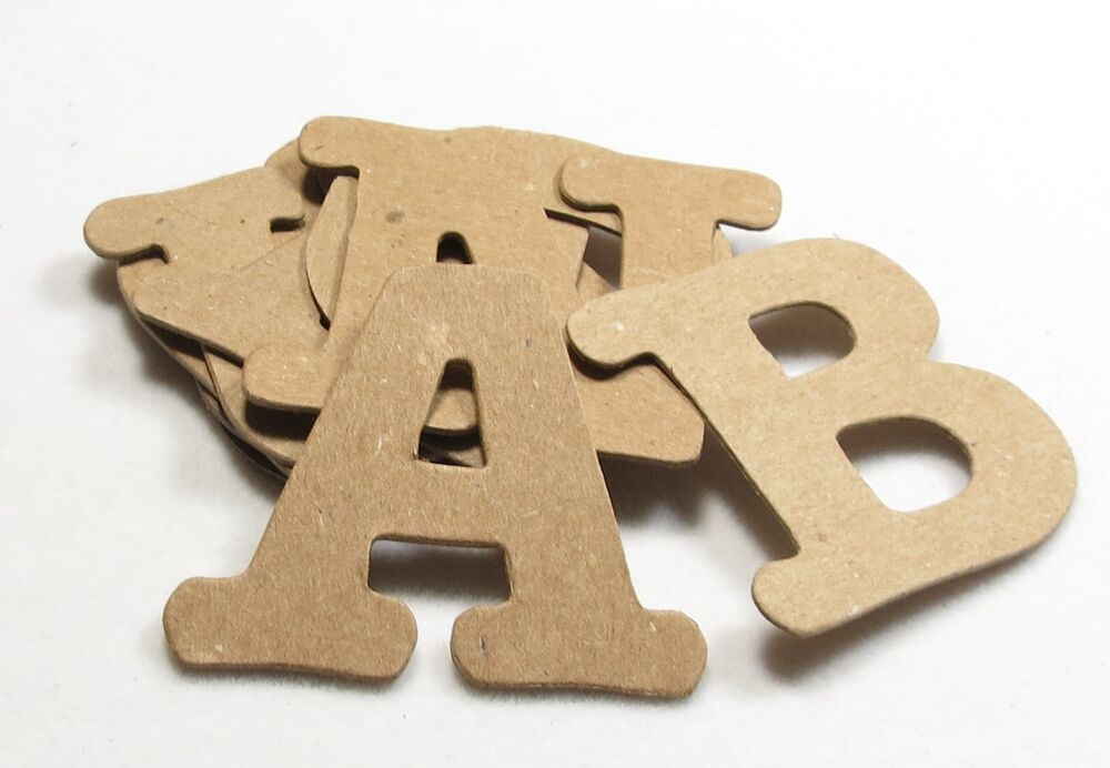 All star font raw white chipboard alphabet letters 60 pcs for Where to buy chipboard letters