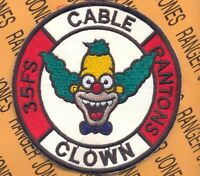 USAF 35th Fighter Squadron FS PANTONS Cable Clown pocket patch