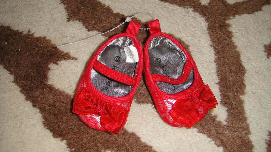 Koala Baby Red Lace Bow Crib Shoes Infant