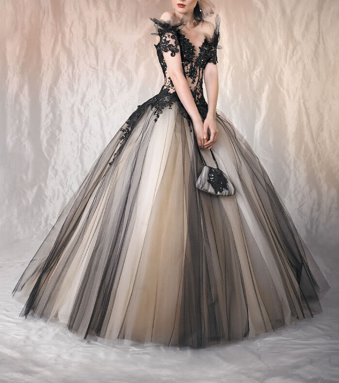 Fantasy Off-shoulder Ball Gown Prom Dress Bridal Gown
