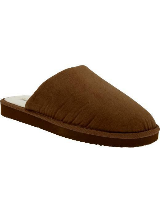 Nwt Old Navy Mens Faux Suede Sherpa Slippers House Shoes Ebay