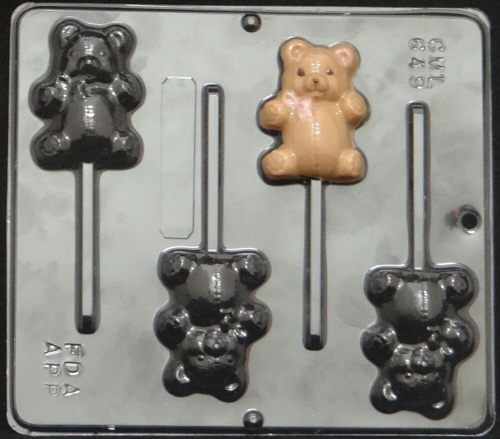 teddy bear lollipop chocolate candy mold baby shower 649 new ebay
