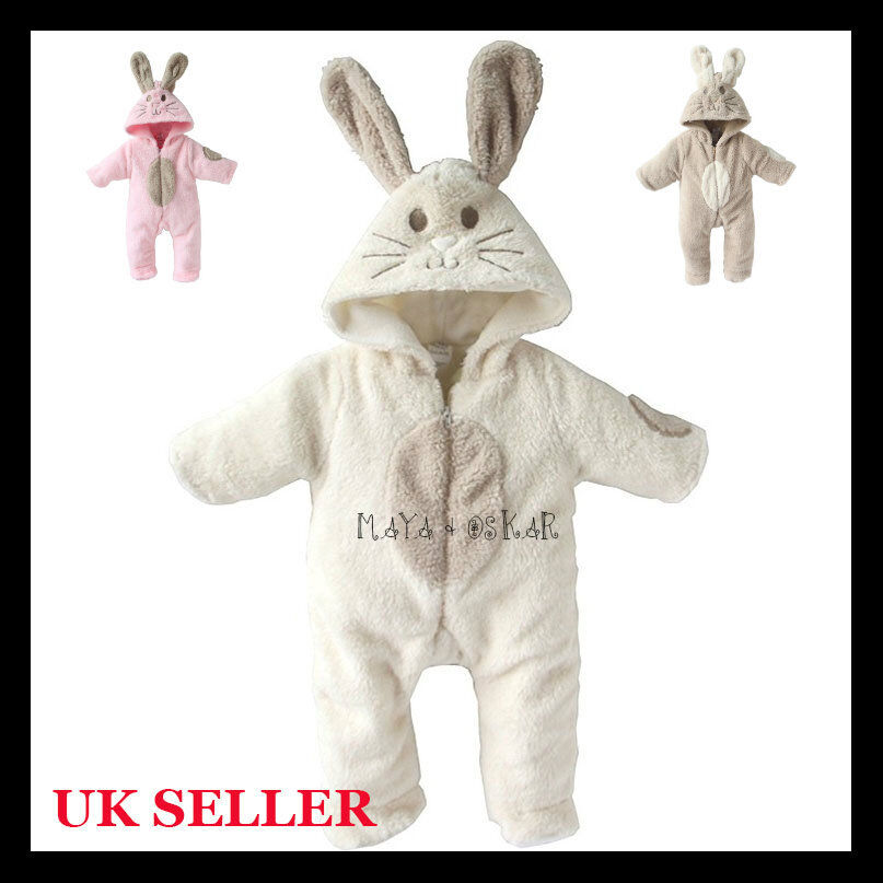 Baby Boy Girl Cute Bunny Animal Fluffy Rabbit Fleece