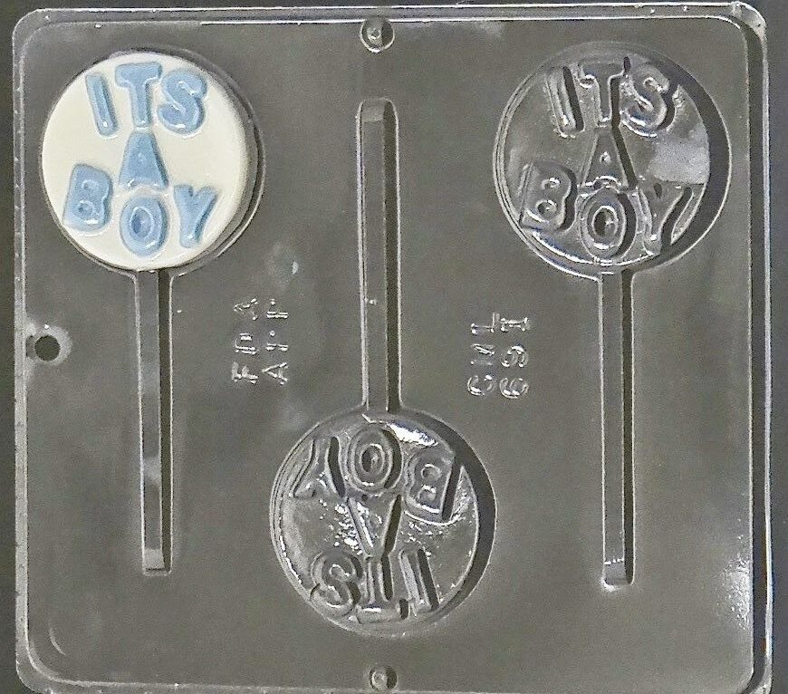 it 39 s a boy lollipop chocolate candy mold baby shower 691 new ebay