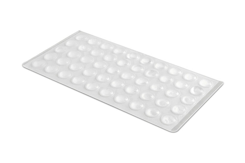 100 x kitchen cabinet domed buffer pads bumper stops 9x3mm self adhesive 10249 ebay - Drawer bumper pads ...