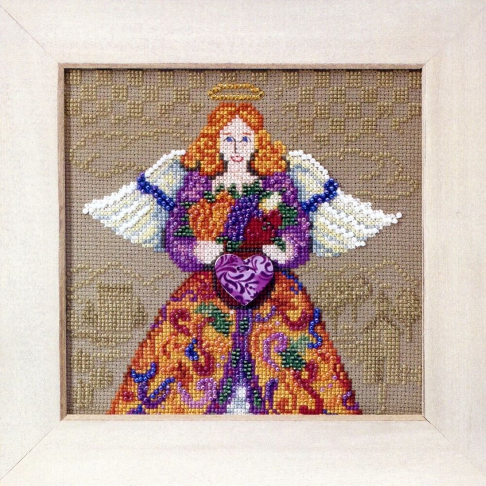 fall beaded cross stitch kit mill hill 2010 jim