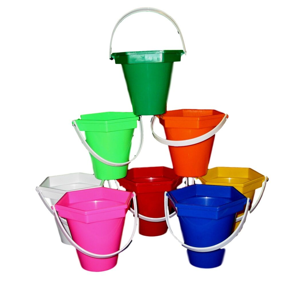 Beach sand buckets mixed colors wedding centerpieces mfg