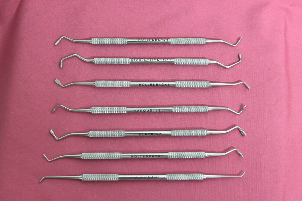 7 Pc Set Amalgam Plugger Condenser Dental Instruments Ebay